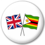Great Britain and Zimbabwe Friendship Flag 25mm Pin Button Badge